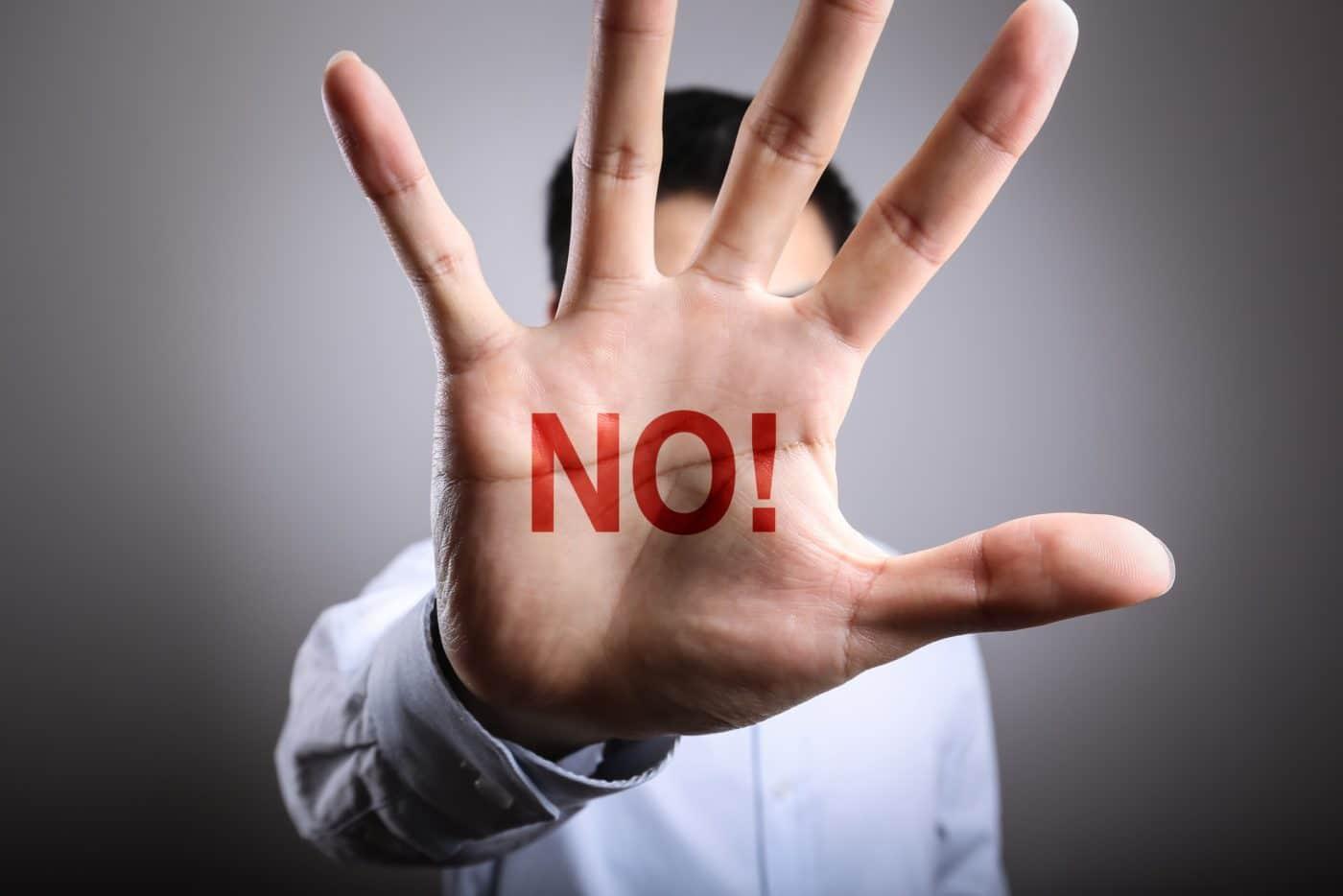 Porque temos dificuldade em dizer NÃO?