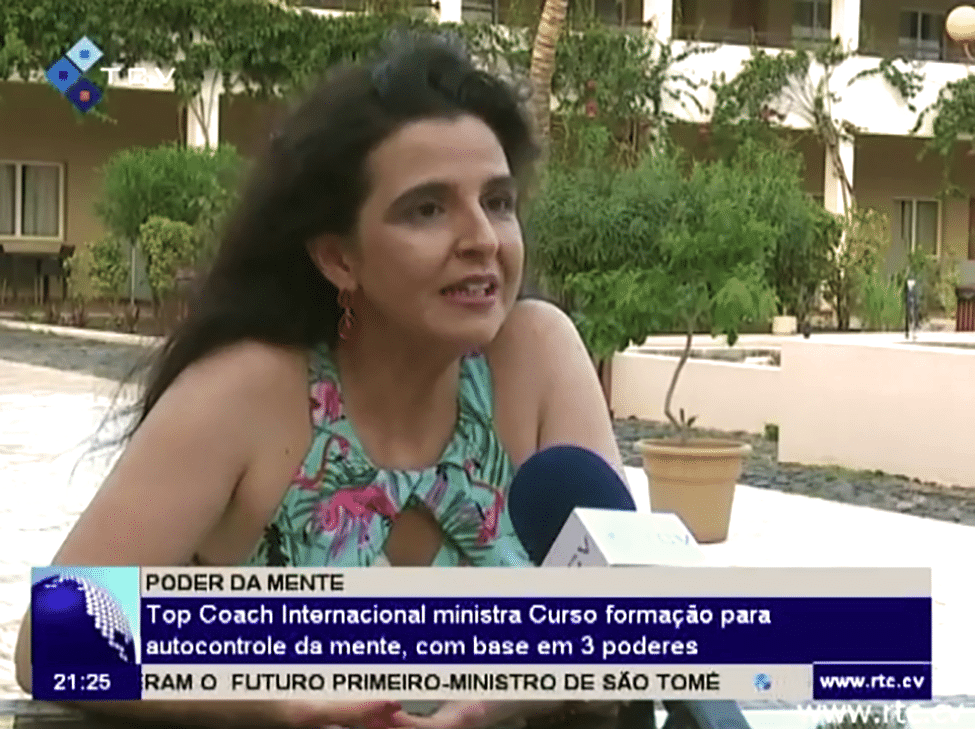 Karina no Televisão de Cabo Verde