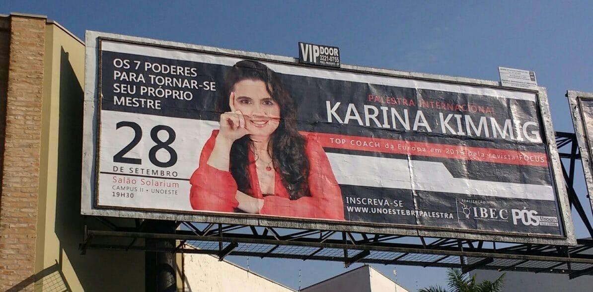 Palestra Karina Kimmig no Universidade UNOESTE